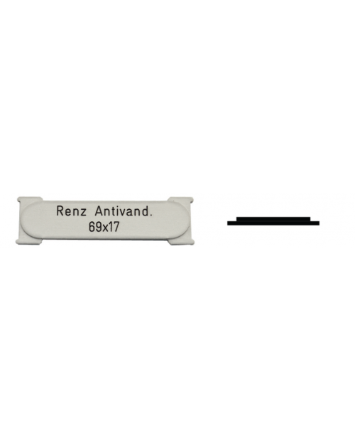 Renz Antivand. 69 x 17 mm